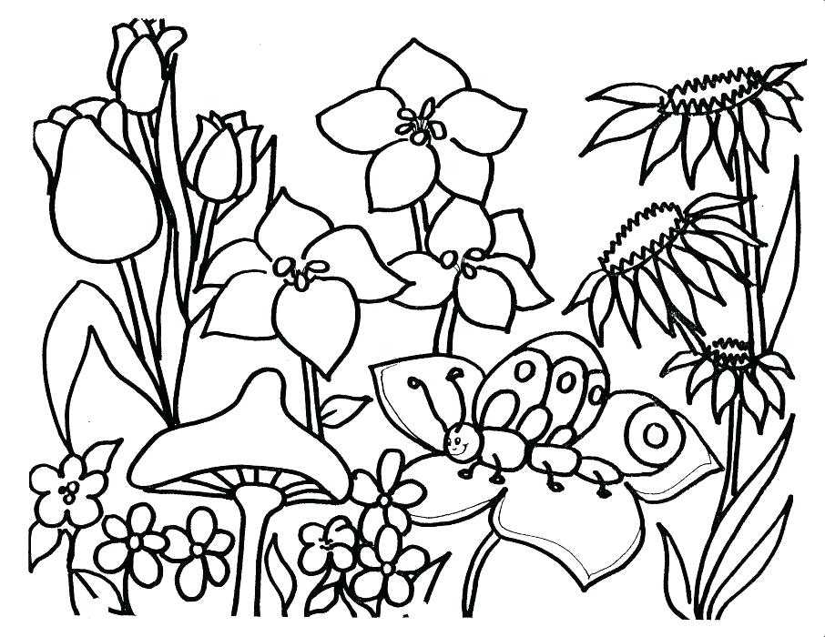906x700 Springtime Printable Coloring Pages Happy Spring Break Coloring