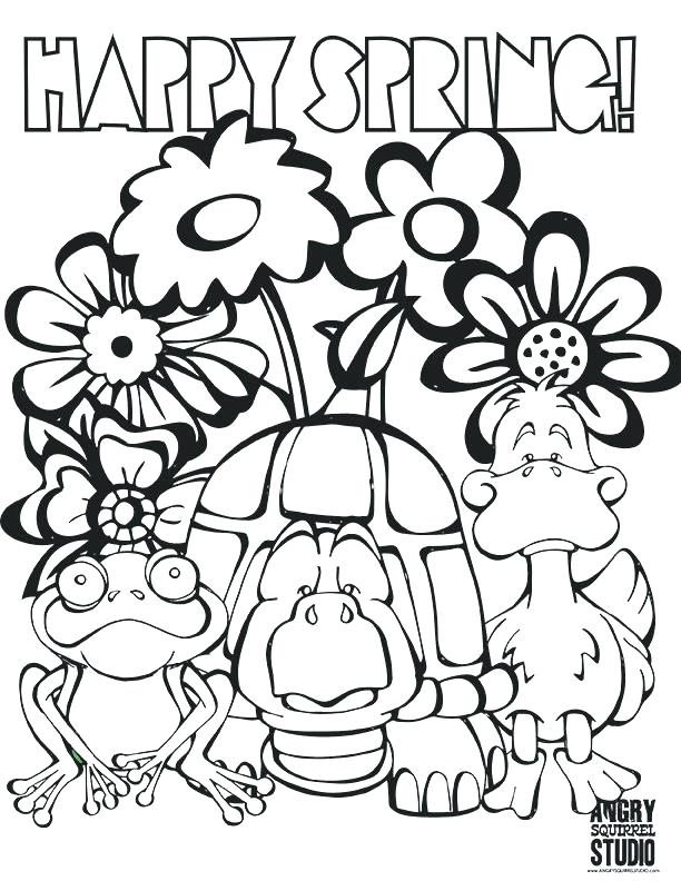 612x792 Spring Coloring Pages Free