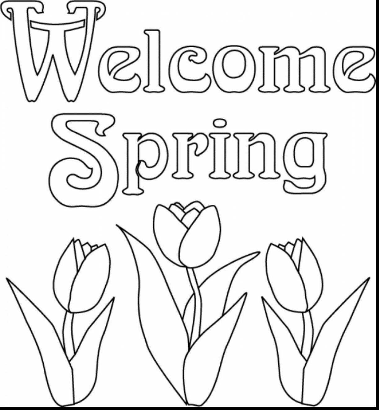 1223x1320 Best Spring Break Coloring Pages Pic For Flowers Styles And Trend