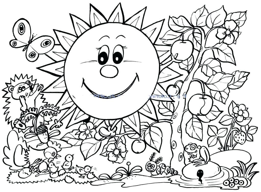 1024x753 Coloring Pages Spring Break Coloring Pages Spring Break Coloring