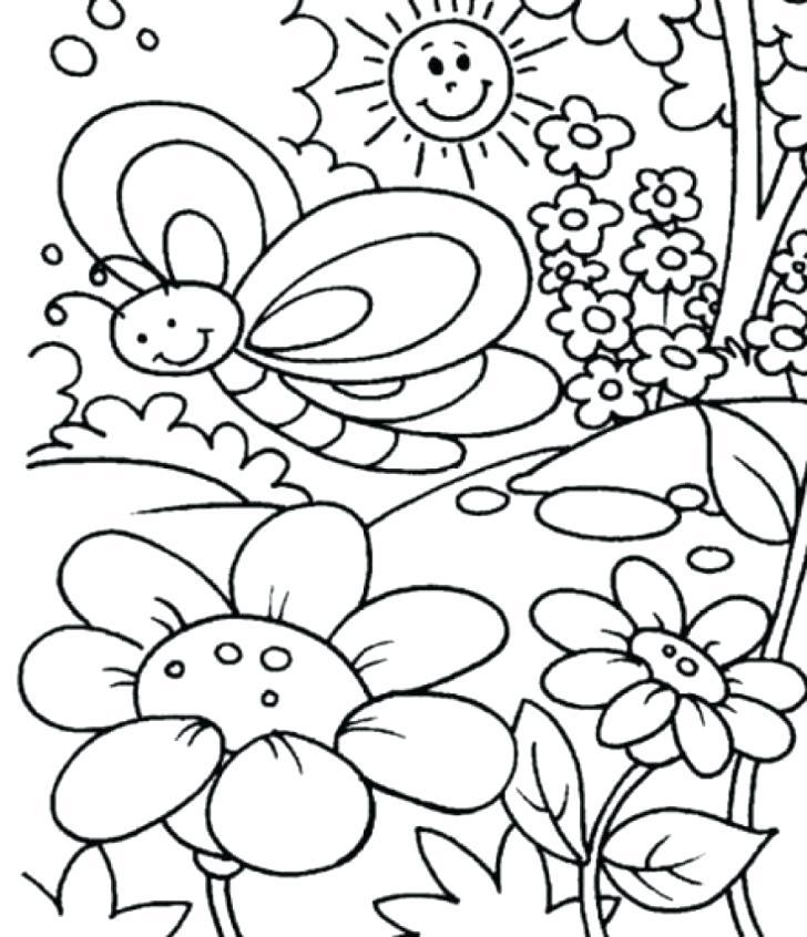 728x846 Preschool Spring Coloring Pages Vintage Preschool Spring Coloring