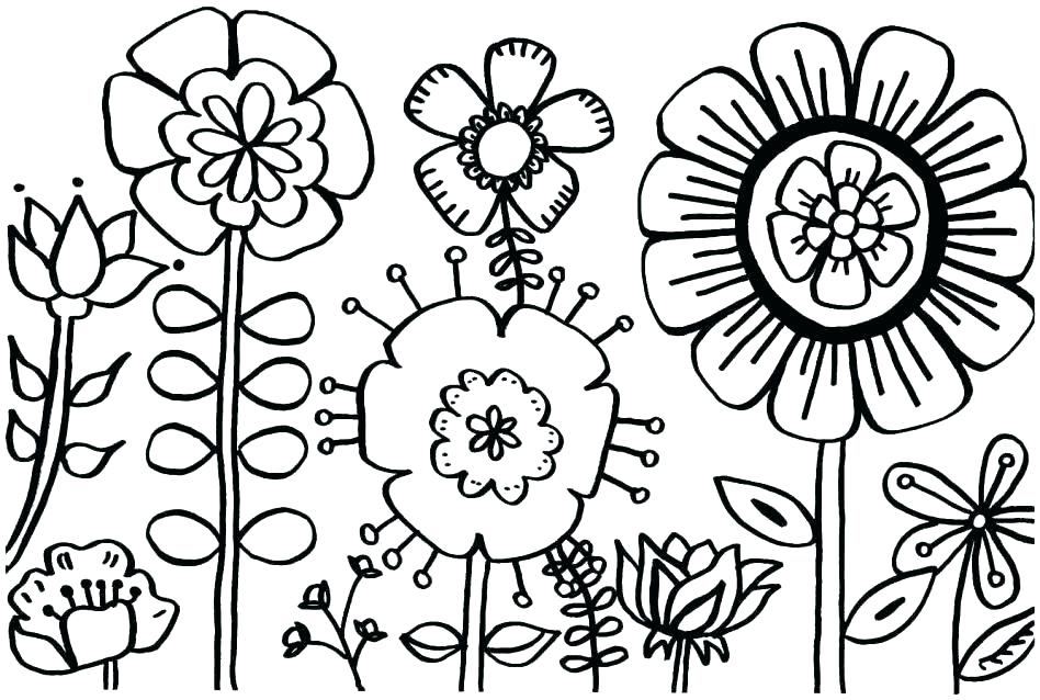 948x638 Spring Coloring Pages For Adults Free Sheets Printable
