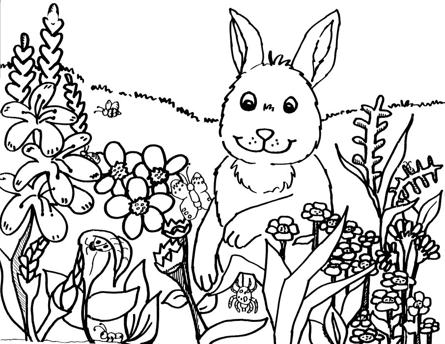906x700 Spring Coloring Pages