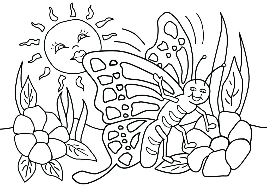 1024x712 Free Printable Spring Coloring Pages Smart Idea Spring Coloring