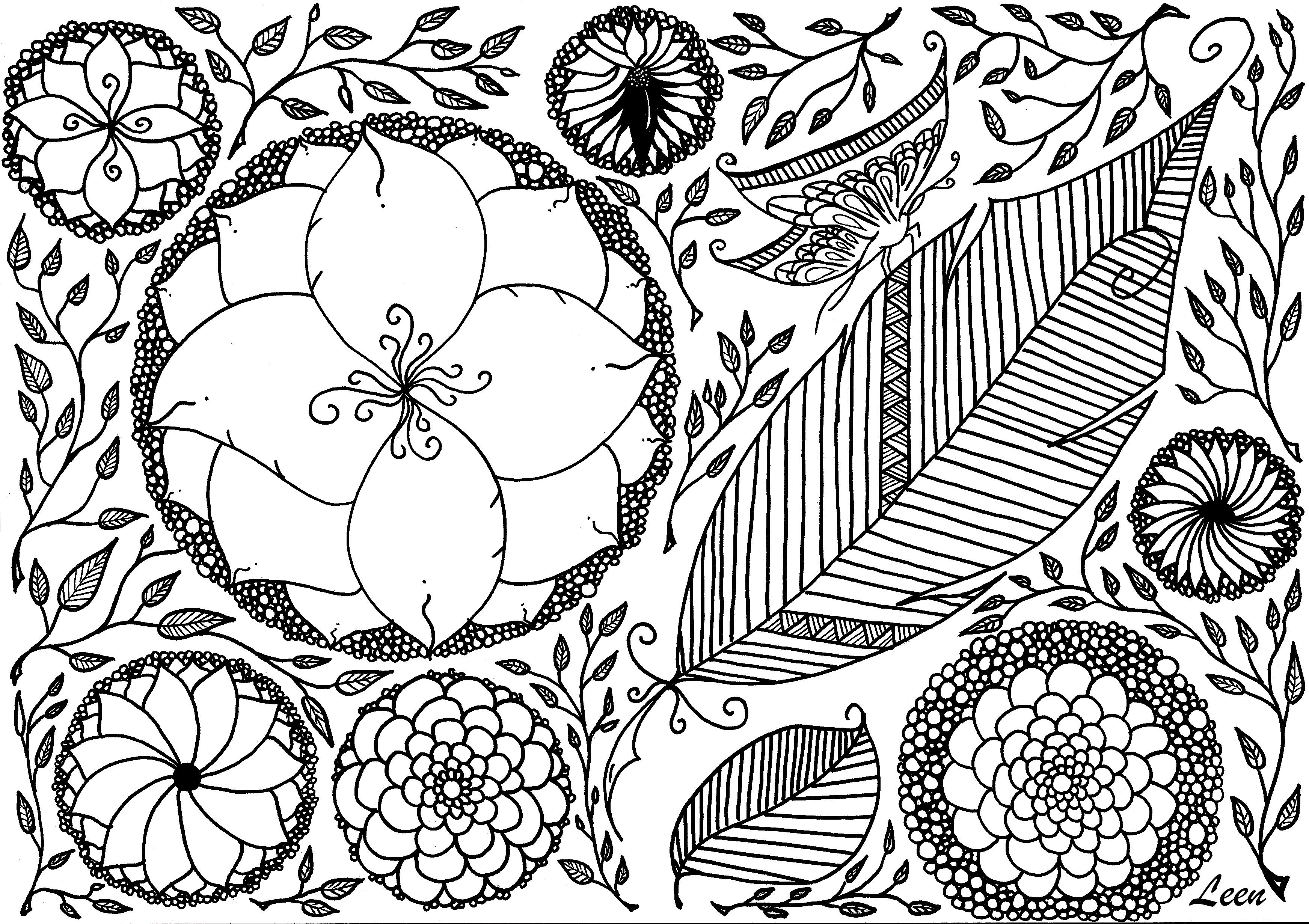 Spring Coloring Pages For Adults at GetDrawings | Free ...