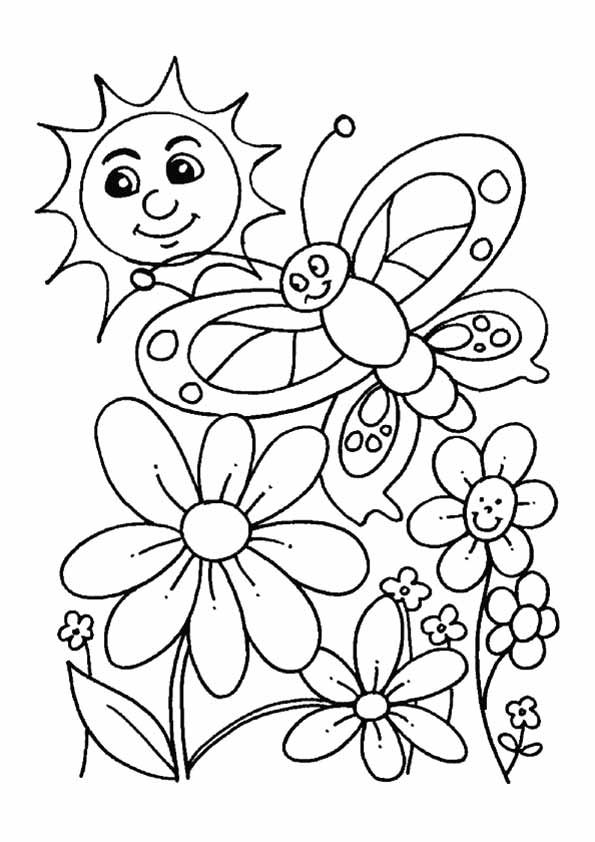 595x842 Spring Colouring Pages Printable Best Spring Coloring Pages