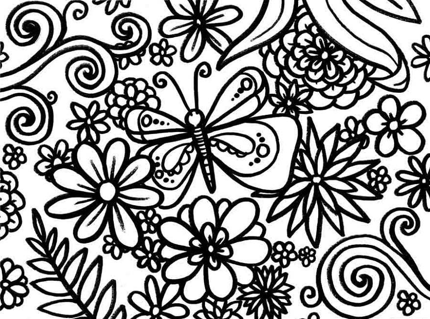 877x650 Spring Coloring Pages For Middle School Animal