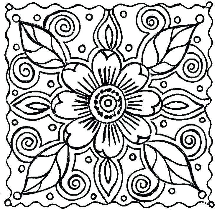 736x714 Elegant Spring Coloring Pages For Adults Or Spring Coloring Pages