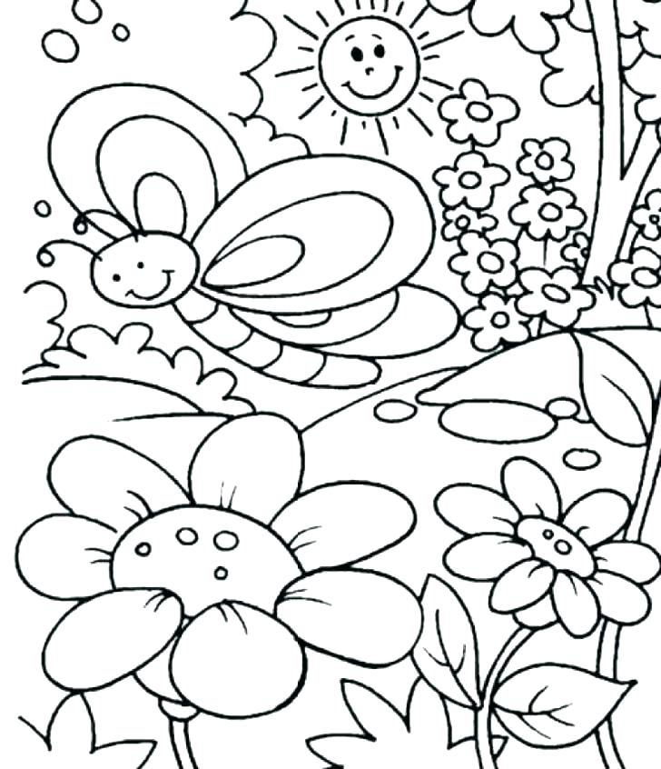 728x846 First Day Of Spring Coloring Pages Kindergarten Coloring Pages