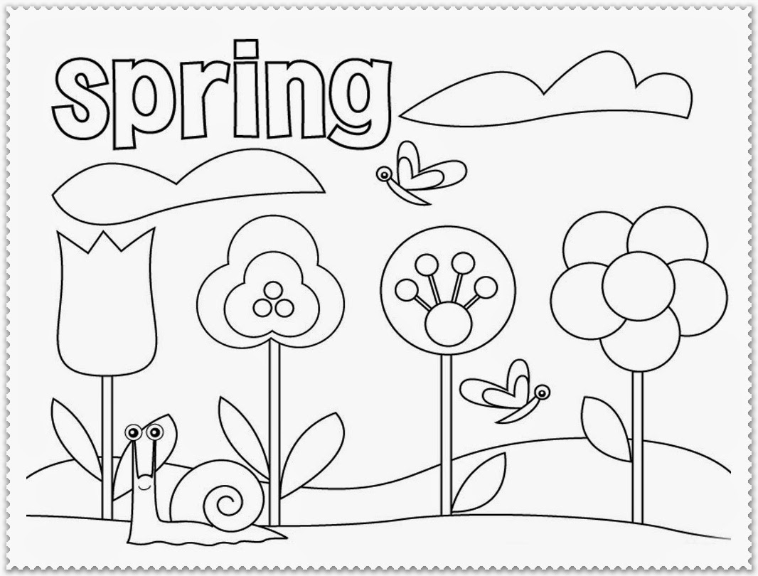 1066x810 Spring Coloring Pages For First Grade