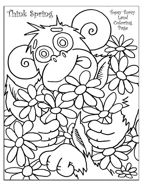 502x650 Spring Coloring Pages For First Grade Animal