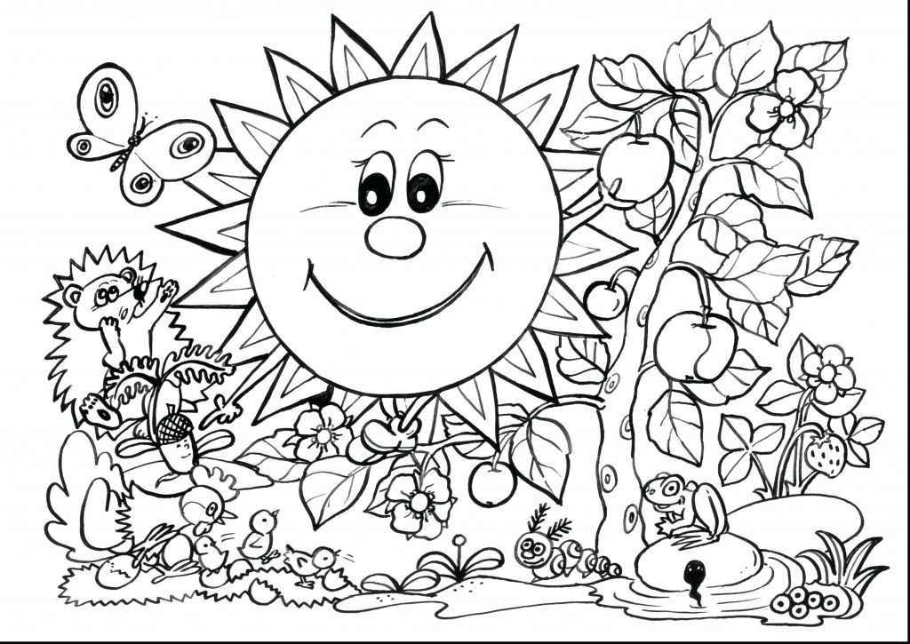 1024x725 Spring Coloring Pages For First Grade Coloring Page First Grade