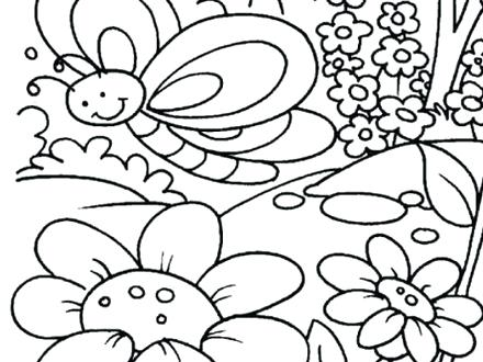 440x330 Spring Themed Coloring Pages Spring Themed Coloring Pages Fun