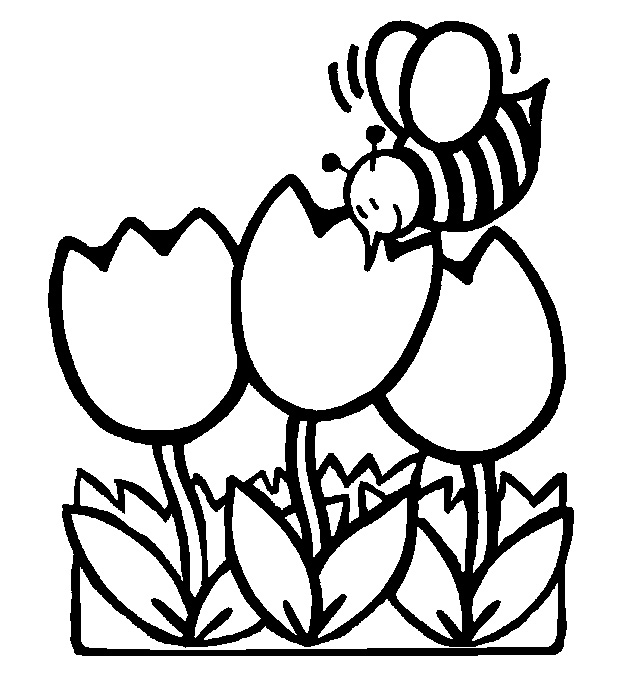 622x674 Spring Coloring Pages Of Flowers Printables For Kids