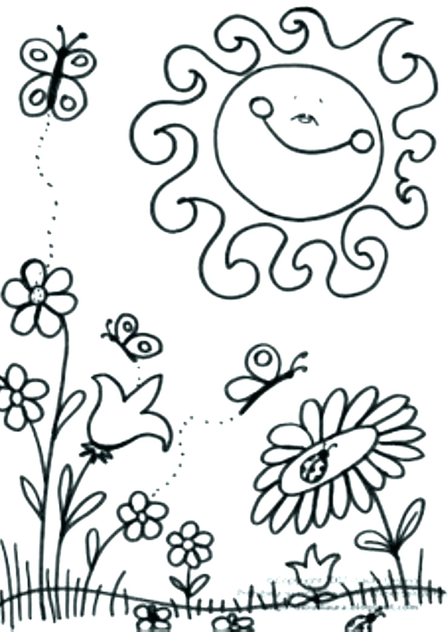 1478x2081 New Spring Flower Coloring Pages Bloodbrothers Free Coloring