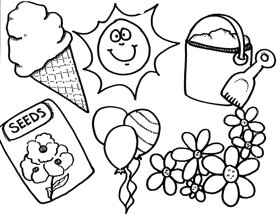 Spring Coloring Pages For Kindergarten At Getdrawingscom Free For