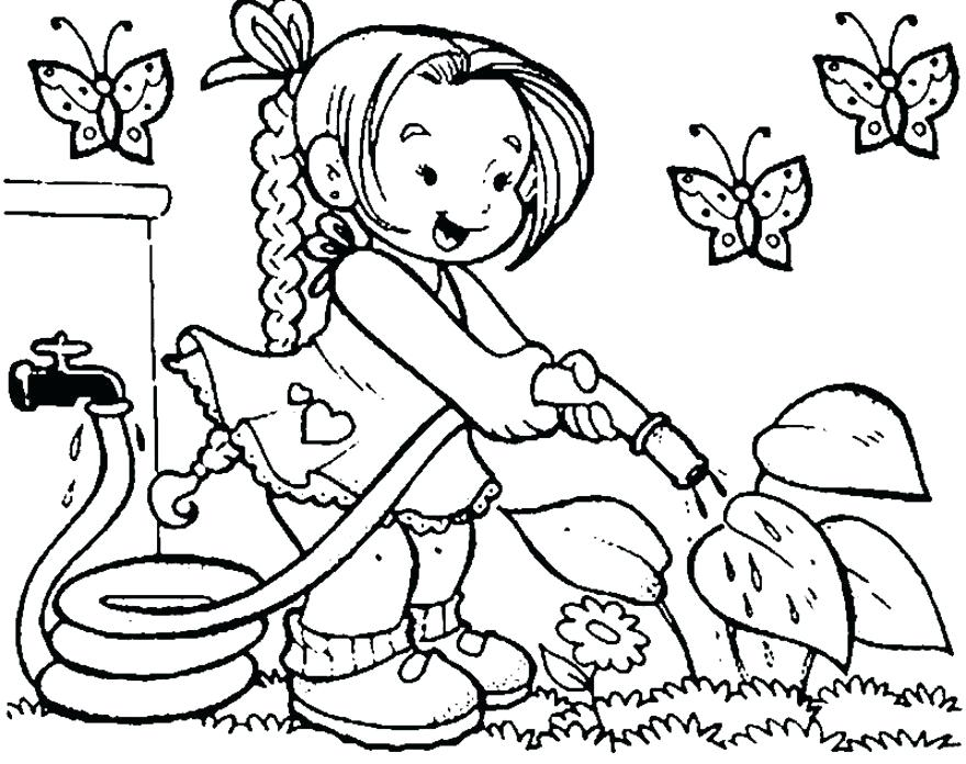 880x696 Spring Colouring Pages With Spring Street Colouring Page Spring