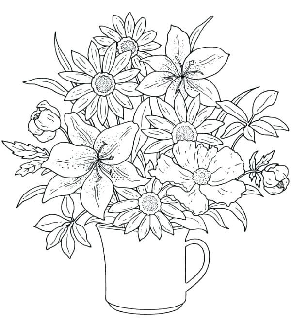 600x666 Spring Coloring Pages Spring Coloring Pages For Kids Printable