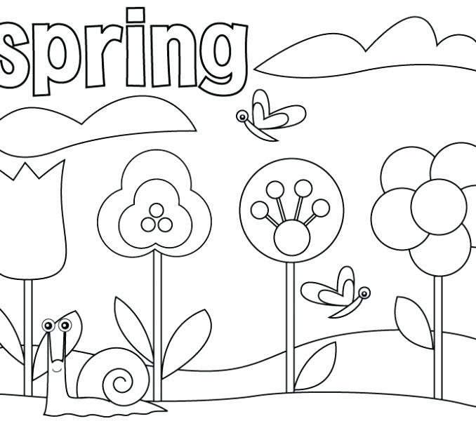 678x600 Preschool Coloring Pages Coloring Pages For Preschoolers Spring