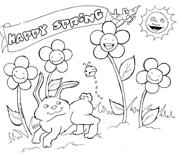 Spring Coloring Pages For Preschoolers at GetDrawings.com | Free for ...