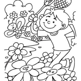 268x268 Spring Coloring Pages For Preschoolers Cooloring Spring Coloring