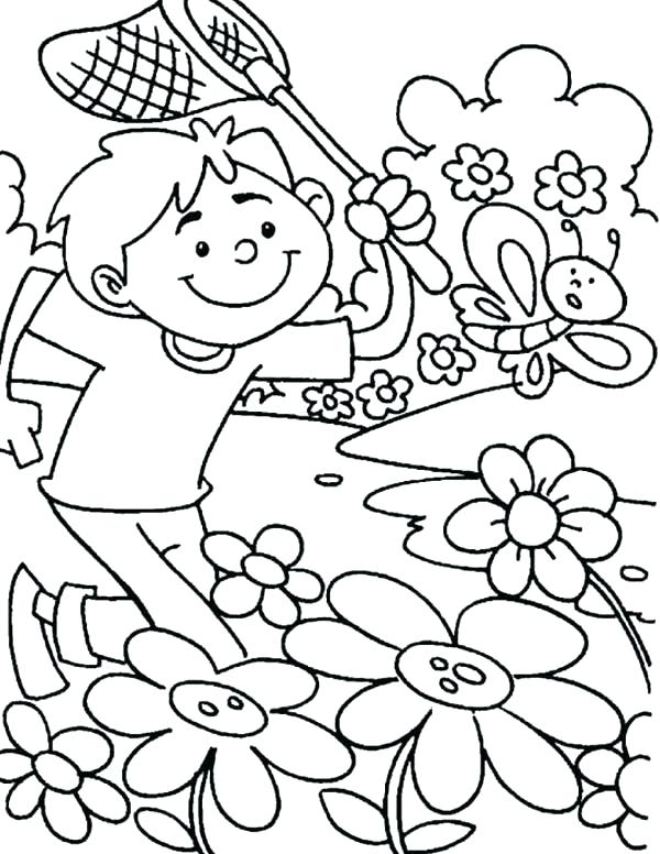 600x776 Spring Coloring Pages For Preschoolers Free Spring Coloring Pages