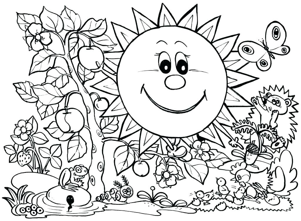 1024x753 Color Pages Preschoolers Spring Coloring Pages