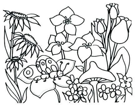 440x340 Spring Coloring Pages Preschool Welcome Spring Coloring Page