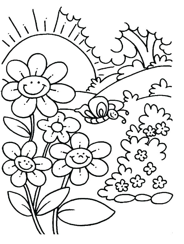 588x780 Spring Coloring Pages Spring Coloring Pages Oriental Trading