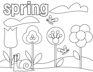 300x232 Spring Coloring Pages For Preschoolers
