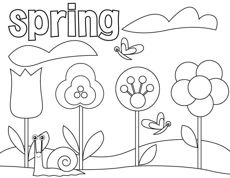 792x612 Coloring Pages Spring And Summer Printable Coloring Color Pages