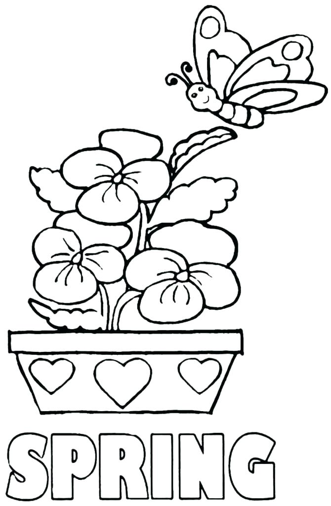 670x1024 Free Spring Coloring Pages Exquisite Spring Coloring Pages