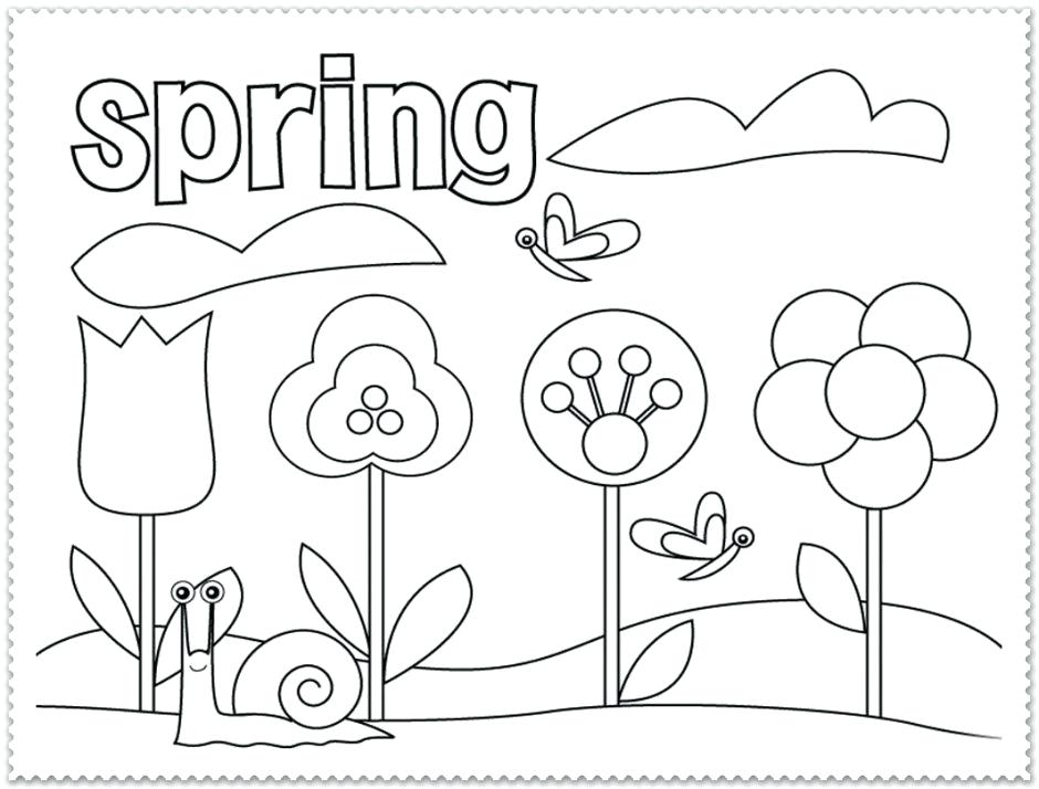 940x714 Spring Coloring Pages For Second Graders Free It Spring Coloring