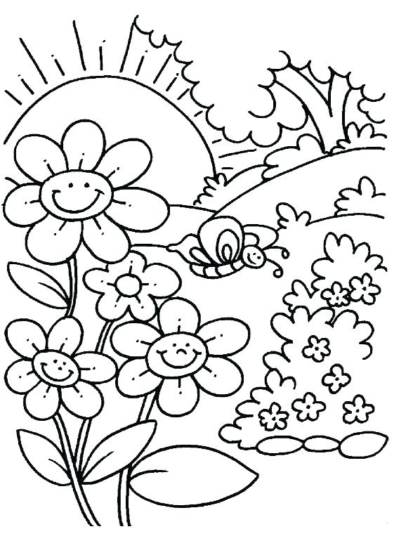 588x780 Spring Coloring Pages Free Spring Coloring Pages For Kindergarten