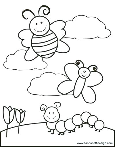 400x513 Spring Coloring Pages Minimalist Springtime Coloring Pages Kids