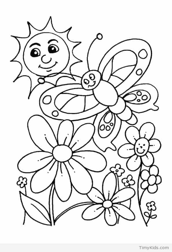 595x872 Spring Coloring Pages Timykids