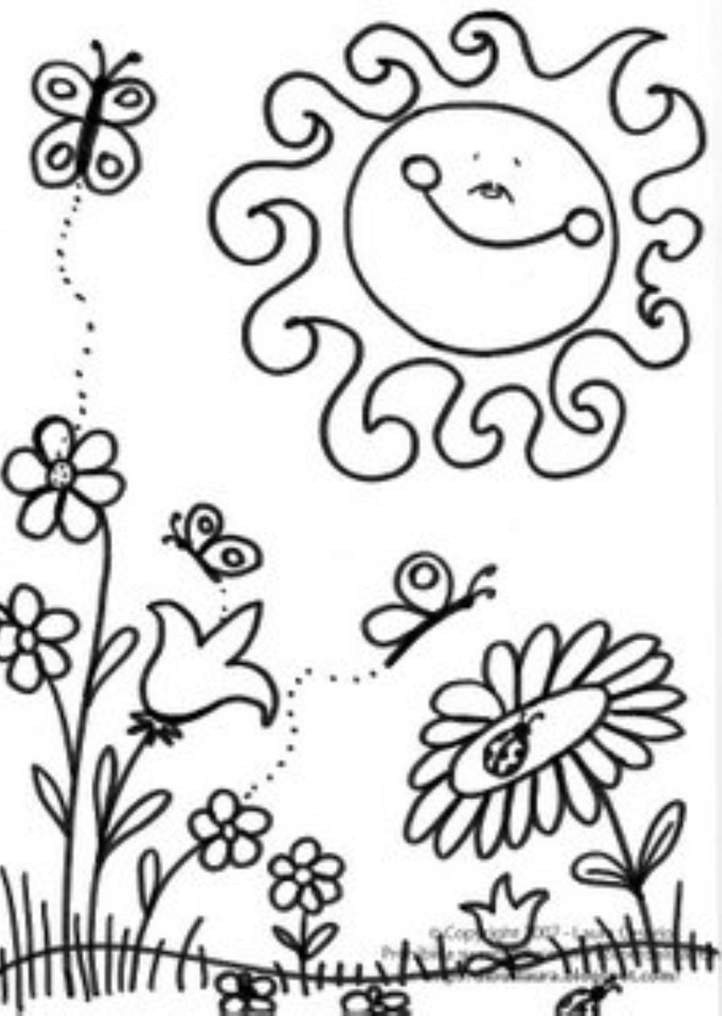 1478x2081 Free Preschool Spring Coloring Sheets Good Free Preschool Coloring