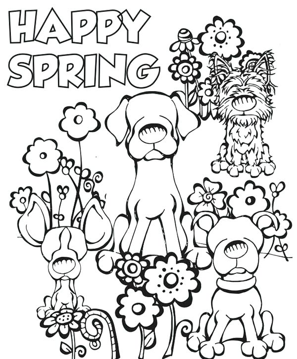 600x725 Lovely Spring Coloring Page For Spring Bouquet Colouring Page