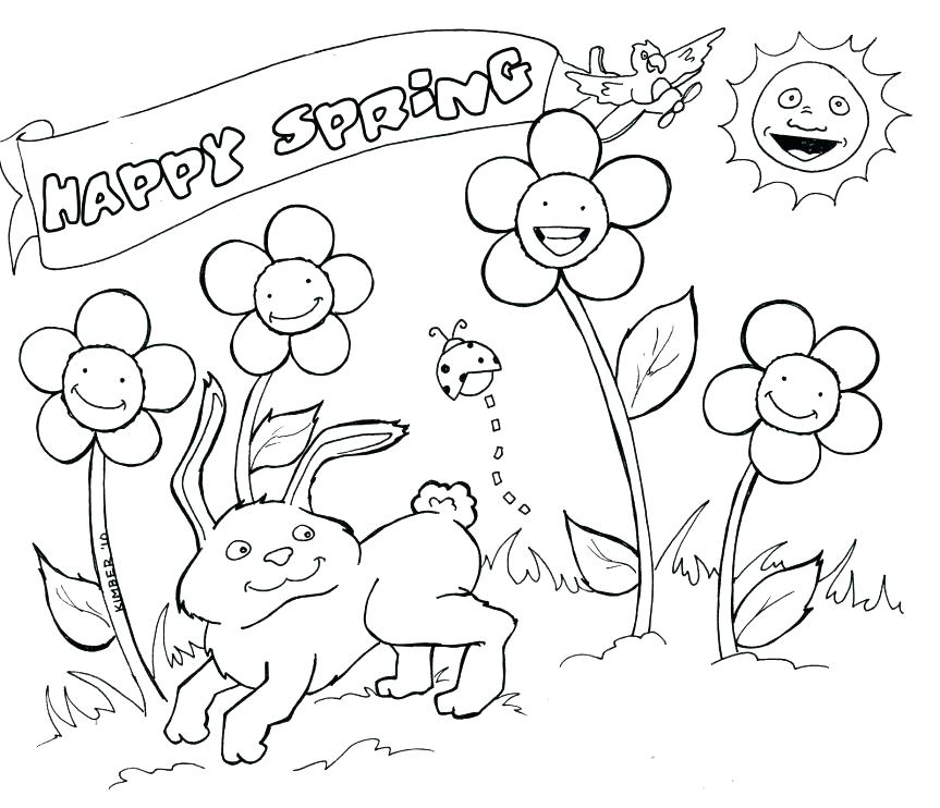 863x742 Printable Spring Coloring Pages Spring Coloring Pages Springtime