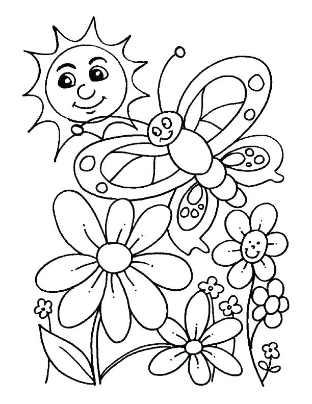 612x792 Spring Coloring Pages For Kids Spring Coloring Pages For Kids