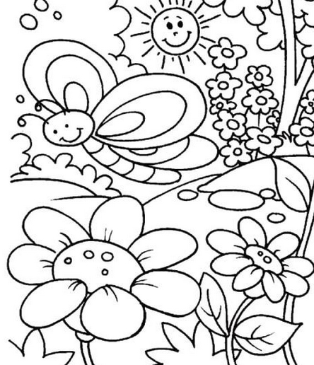 444x516 Spring Coloring Pages Pdf
