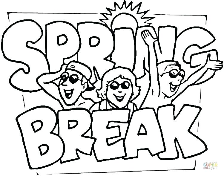 750x589 Spring Coloring Pages To Print