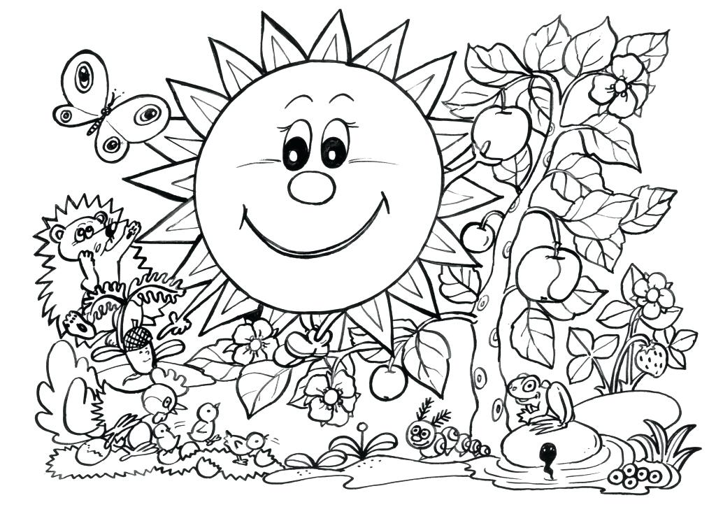 1024x725 Coloring Pages For Spring Back Coloring Pages Spring Category