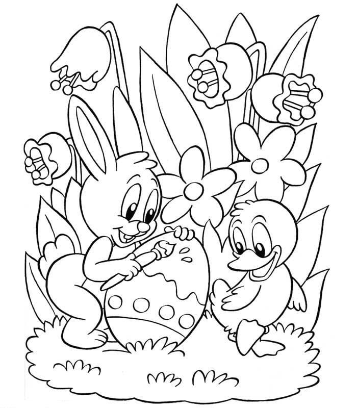 Spring Easter Coloring Pages