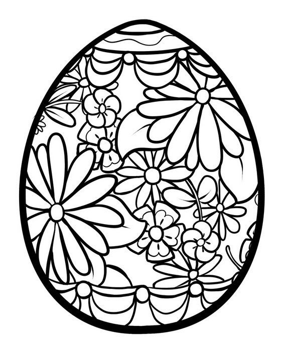 570x706 Easter Egg Coloring Pages Easter Colouring, Easter And Easter Crafts