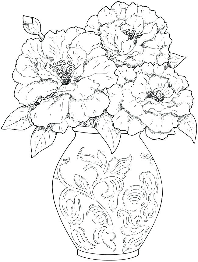 650x860 Images Of Coloring Pages Of Flowers Adult Coloring Pages Flowers