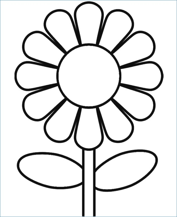 610x746 Printable Spring Flower Coloring Pages