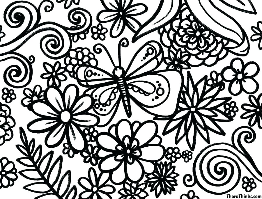 900x684 Spring Flowers Coloring Page Spring Flowers Coloring Pages Kids