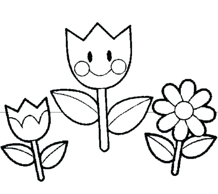 700x625 Spring Flowers Coloring Pages Coloring Pages For Spring Flowers