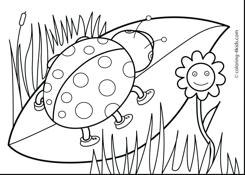 1024x731 Spring Flowers Coloring Pages Printable Spring Flowers Coloring